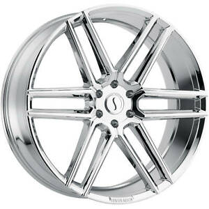 22x9 5 Chrome Status Titan Wheels 6x135 30 Fits Ford Expedition 6 Lug Only