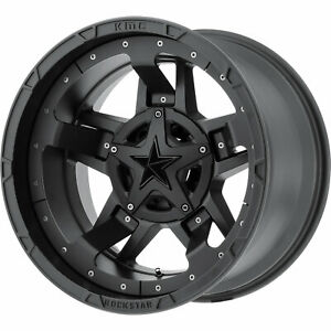 17x9 Black Xd Rockstar 3 xd827 Wheels 5x4 5 5x5 12 Lifted Fits Dodge Nitro