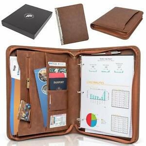 Forevermore Portfolio Padfolio With Zippered Closure Removable 3 Ring Binder