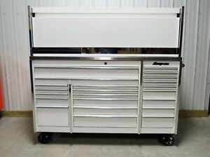 Snap On White Krl1023 Tool Box Stainless Steel Top Hutch