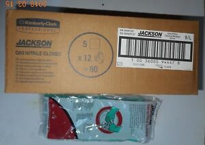 60 Pair Jackson Safety G80 Nitrile Glove 94447 Size 9 l New In Sealed Pack