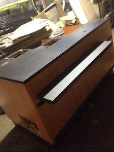 Used Checkout Counters Oak Black Store Cashwrap Fixtures Customer Service Area