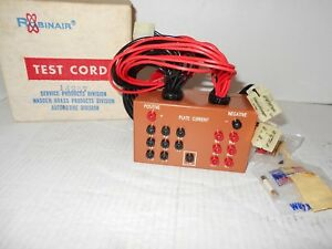 Robinair 14257 Plate Current Test Cord Tester Box New Old Stock