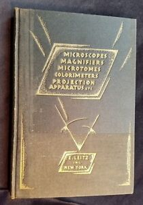 1929 Leitz Catalog Microscopes Magnifiers Microtomes Colorimeters Projectors