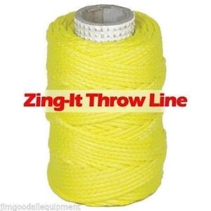Zing it Throw Line By Samson 1 75mm X 180 Samthane Coating 400 Lb Strength