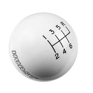 Hurst 1630056 Shift Knob White 6 Speed 9 16 18 Threads C5 Corvette