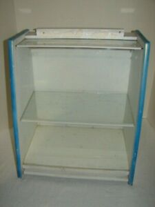 Vintage Locking Store Display Case Remington Razors Opening Back One Glass Shelf