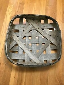 Antique N C Tobacco Basket New Old Stock 17 5 X 17 5