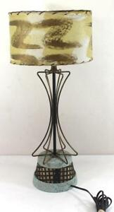 Mid Century Modern Atomic Age Table Lamp Base Lights Up Too See Photos