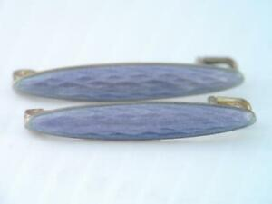 Rare Antique David Andersen Norway Sterling Silver Enamel Lingerie Pins Violet