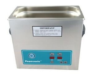 New Crest Powersonic P360h 45khz Ultrasonic Cleaner With Power Control
