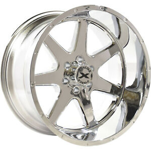 22x12 Chrome Xtreme Force Xf4 Wheels 6x135 44 Lifted Fits Ford Expedition