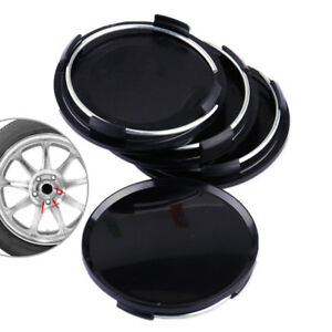 4pcs Universal 63mm 2 5 Car Wheel Hubs Center Caps Covers No Badge Emblem Black