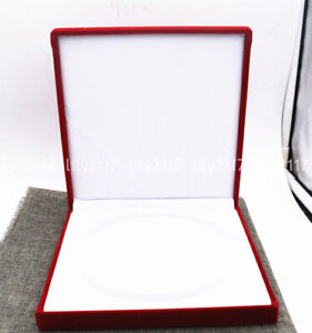 7 X 7 Large Red Velvet Jewelry Necklace Gift Boxes Specifications Presentation