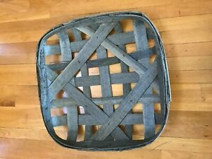 Antique N C Tobacco Basket New Old Stock 23 X 23