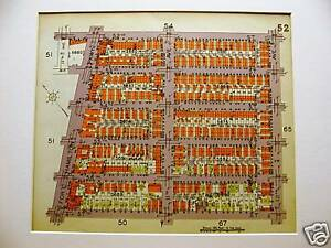 Brooklyn Map 1929 Boro Park 52nd 57th Fort Hamilton Matted