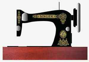 Singer Model 28 128 Celtic Style Sewing Machine Waterslide Restoration Decals