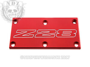 Tpi Throttle Body Plate O Chevy Camaro Iroc Z Z28 Outline Red