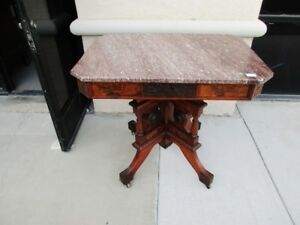 Sale 19th Century Eastlake Aesthetic Victorian Tennessee Marble Parlor Table