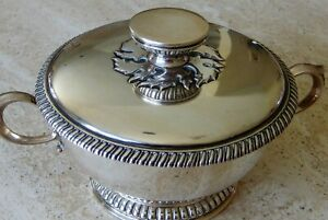 Top Quality English Sterling Silver Covered Porringer T Rossi Norwich