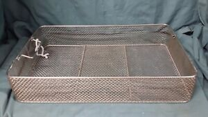 Aesculap 53 X 34 X 9cm Sterilization Instrument Tray Basket Surgical Medical Vet