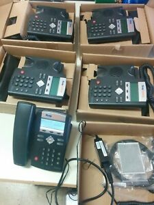 Polycom Ip335 Soundpoint Telephone Set Lot Of 5