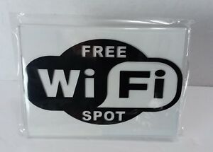 3 free Wifi Spot Clear Acrylic Table Store Counter Restaurant Table Signs