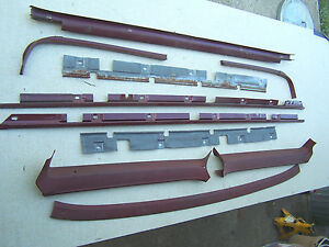 Mopar 66 67 B Body Station Wagon Headliner Trim Set Coronet Belvedere