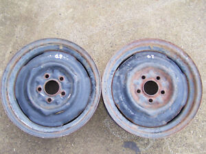 Mopar A body 14 X 4 1 2 Small Bolt Steel Wheels Dart Barracuda Duster Valiant