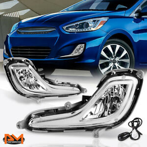 For 12 16 Hyundai Accent Sedan hatchback Clear Lens Bumper Fog Light lamp switch