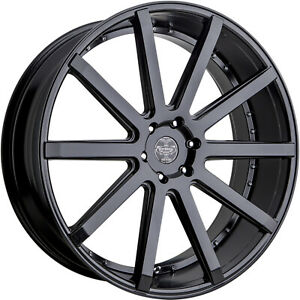 24x9 5 Black Versante Ve232 Wheels 5x115 15 Fits Dodge Charger Rwd Charger