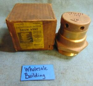 Justrite Dual action Drum Vent 8 100 Heavy Duty Brass Rm 8300 2 Npt