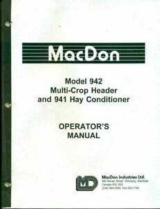 Macdon Operators Manual 942 Multicrop Header 941 Hay Conditioner 46217 ag 32
