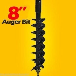 8 x4 Skid Steer Auger Bit Mcmillen Hdc For Difficult Digging 2 Hex Drive