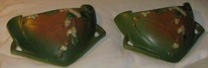Pair Green Roseville Snowberry Wall Pockets
