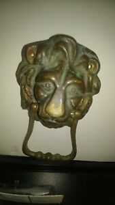 Antique Bronze Lion Door Knocker