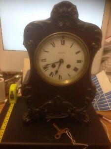Antique French Movement Mantle Clock Reid Sons Newcastle Gwo