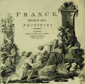 Wyld Map 72x58 France Divided Into Provinces Decorative Engraving Hand Coloring