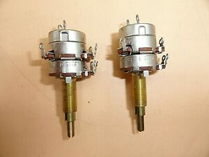 Cts Audio Taper Dual gang Potentiometer 1 1 2 Shaft W Switch lot Of 2