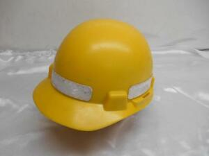 Old Msa Smoothdome Yellow Protective Hard Hat Cap Coal Miner Construction Worker