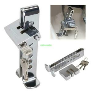 Brake Pedal Lock Security Auto Car Stainless Steel Clutch Lock Anti Theft Tool