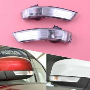 For Ford Focus 08 2016 Pair Wing Mirror Indicator Lens Turn Signal Light Cover
