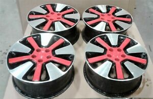 2015 Kia Soul Set Of 4 Alloy Wheels W Red Accents 18 Oem