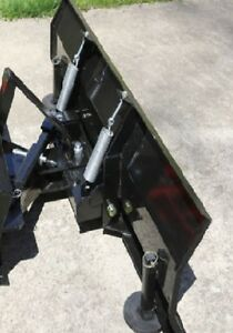 New 60 Snow Plow blade For Subcompact Tractor With Skid Steer Universal Mount