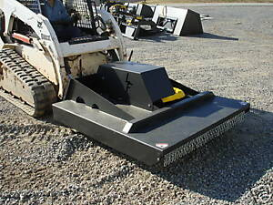 New Usa 5 60 Skid Steer Loader Brush Rotary Cutter Bush Field Mower Bobcat cat