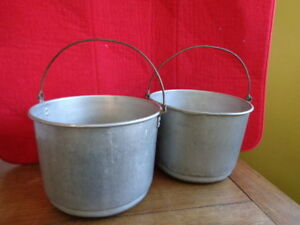 Vintage Berry Picking Pails Metal