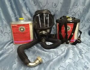 msa Gas Mask Type N With Sw Window cator Canister size Medium