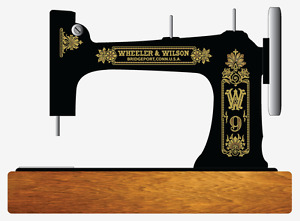 Wheeler Wilson D9 Sewing Machine Restoration Decals Gold Metallic 41096