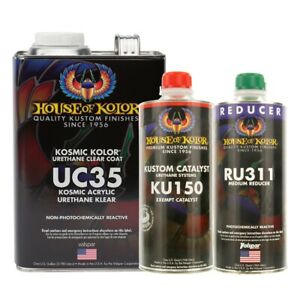 House Of Kolor Uc35 g17 Kosmic Klear Clearcoat Gallon Kit W Catalyst Reducer