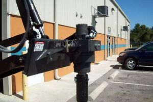 Auger For Mini Skid Steers W hoses Quick Couplers develops 1500 Lbs Torque